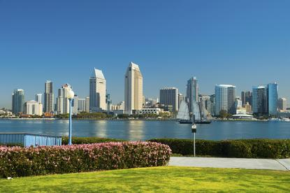 San Diego Skyline and Park